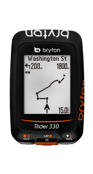 Bryton Rider 330 H GPS orange/svart